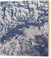 Snowy Landscape Aerial Wood Print