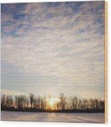 Snowy Michigan Morning Wood Print