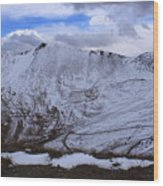 Snowy Mountain Wood Print