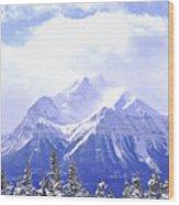 Snowy Mountain Wood Print by Elena Elisseeva
