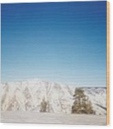 Snowy Mountain Wood Print