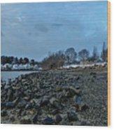 Snowy Obear Park, Beverly Ma, At Dusk Wood Print