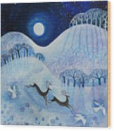 Snowy Peace Wood Print