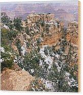 Snowy Pillar 2 - Grand Canyon Wood Print
