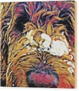 Snowy Pup Wood Print
