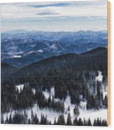 Snowy Ridges - Impressions Of Mountains Wood Print