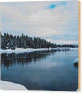 Snowy River Banks Wood Print