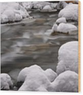 Snowy Stickney Brook Wood Print