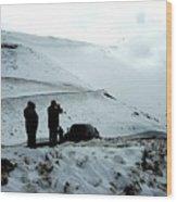 Snowy Switchbacks On Pikes Peak Wood Print