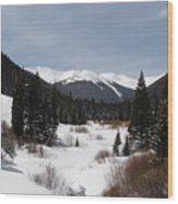 Snowy Valley Wood Print