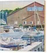 Snug Harbor II Wood Print