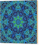 So Blue - 04v2 - Mandala Wood Print