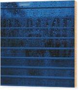 So Blue I Can Wood Print