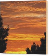 So Cal Sunset Wood Print