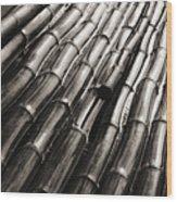 Soaking Bamboo Stalks Wood Print