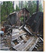 Soap Creek Debris, Real Estate Series Wood Print