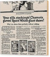 Your Silk Stockings Vintage Soap Ad Wood Print