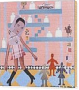 Soap Scene #16 Miracle Maids Wood Print