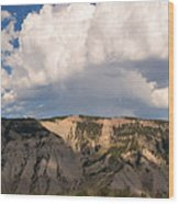 Soaring Above Mount Everts Wood Print