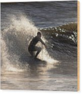 Socal Surfing Wood Print