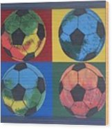 Soccer Balls Wood Print