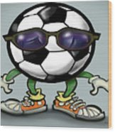 Soccer Cool Wood Print