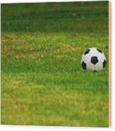 Soccer Season Wood Print