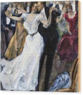 Society Ball, C1900 Wood Print