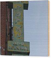 Society Hill Hotel Bar Sign Wood Print