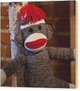Sock Monkey Wood Print