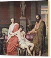 Socrates Chiding Alcibiades Wood Print