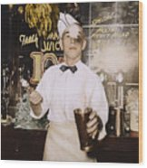 Soda Jerk, 1939 Wood Print