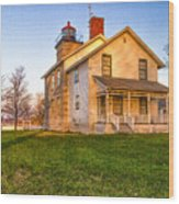 Sodus Point Lighthouse And Museum Wood Print
