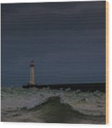 Sodus Point Outer Light Wood Print