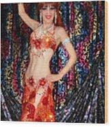 Sofia Metal Queen - Belly Dancer Model At Ameynra Wood Print