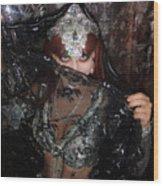 Sofia Metal Queen - Black Metal Bellydancer Model Wood Print