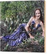 Sofia Of Ameynra. Cybergoth Belly Dancer Wood Print