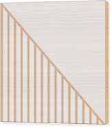 Soft Blush and Coral Stripe Triangles Wood Print
