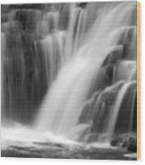 Soft Clare Glen's Waterfall Ireland Wood Print
