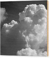 Soft Clouds Wood Print