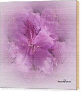 Soft Edged Floral Wood Print