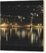 Soft Evening At Palmer Pond Poster Black Border No Text Wood Print