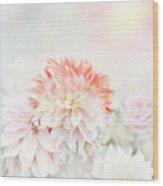 Soft Focus Floral Background Wood Print