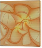 Soft Golden Flow Wood Print