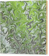 Soft Green And Gray Abstract Wood Print