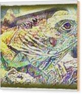 Soft Iguana Wood Print