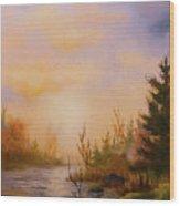 Soft Landscape Wood Print