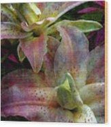 Soft Lilies 3637 Idp_2 Wood Print