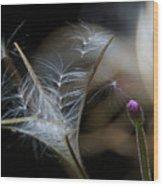 Soft Little Flowers Wood Print