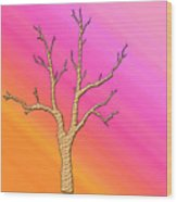 Soft Pastel Tree Abstract Wood Print